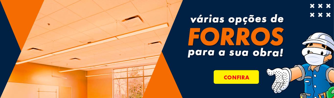 Forros variados - Gesso - Mineral - Isopor - Lá de vidro e PVC - Artesana