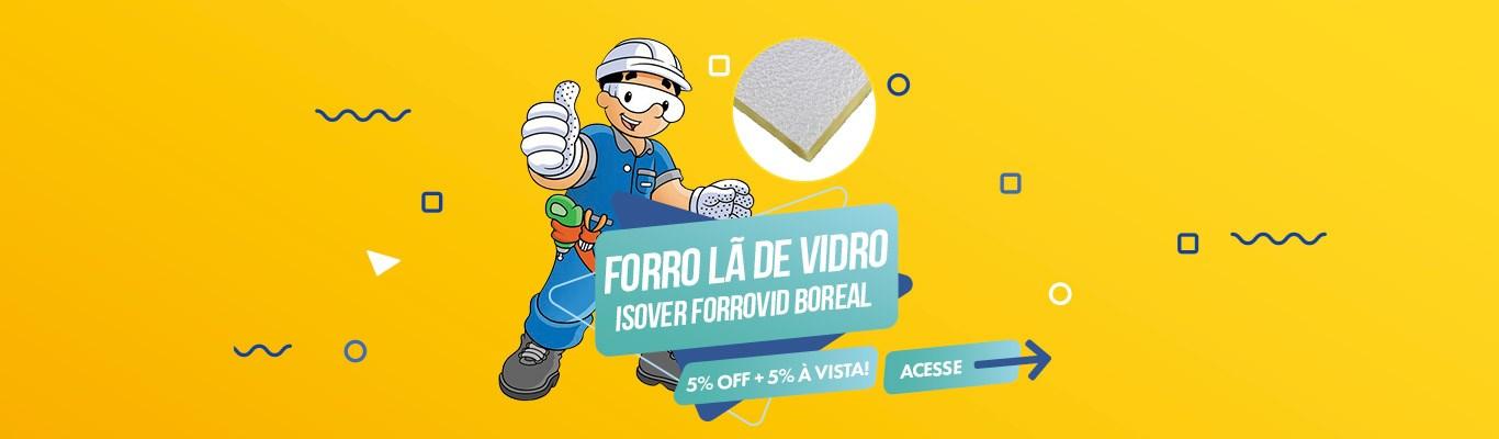 Forro de Lã de Vidro com 5% OFF