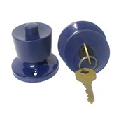 Fechadura Tubular 90 mm Lockwell cor azul