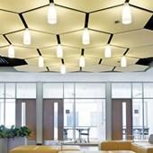 Nuvem Acústica Soundscapes Shapes Hexágono 1250 x 1200 x 22mm Armstrong Ceilings