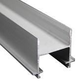 Perfil Divisória Alumínio Coluna Dupla CD 3000 mm Alu Fosco