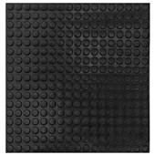 Piso de Borracha Pastilhado (Moeda) Preto - 3x500x500 MM - Daud