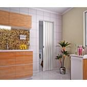 Porta Sanfonada de PVC 800x2100 MM - Branca - Plasbil