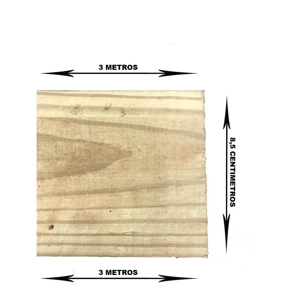Reforço de Madeira Tratada 85x22x3000mm para Porta