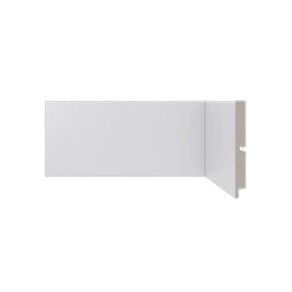 Rodapé Liso Poliestireno branco 10cm x 2,40m Moderna 454 - Santa Luzia