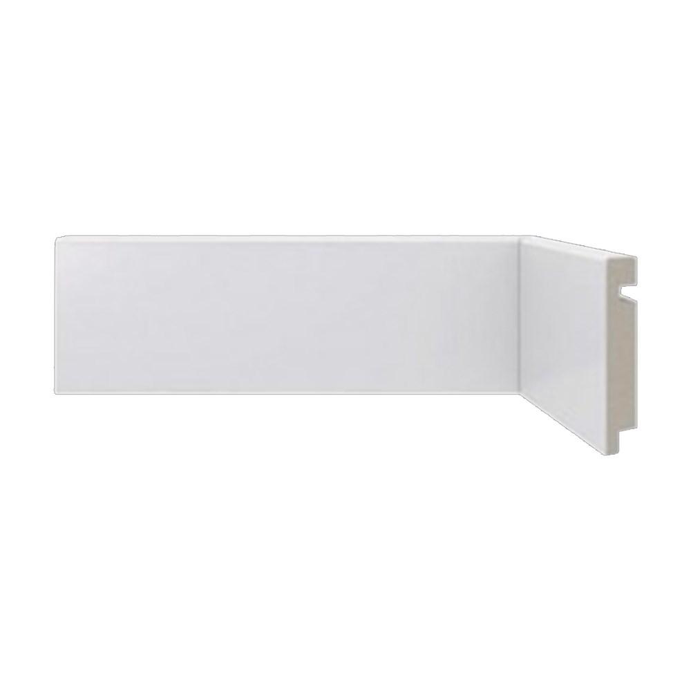 Rodapé Liso Poliestireno Branco 7cm x 2,40m Moderna 451 - Santa Luzia