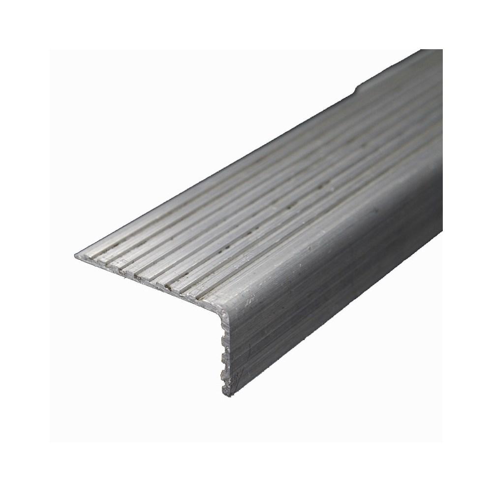 Testeira Degrau Aluminio Fosco 50x30x6000mm