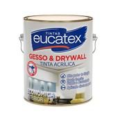 Tinta Acrílica Gesso e Drywall para Interior Branca 3,6L Eucatex Tintas