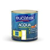 Tinta Esmalte Acqua Base Água para Exterior e Interior Branco Acetinado 900ML - Eucatex Tintas